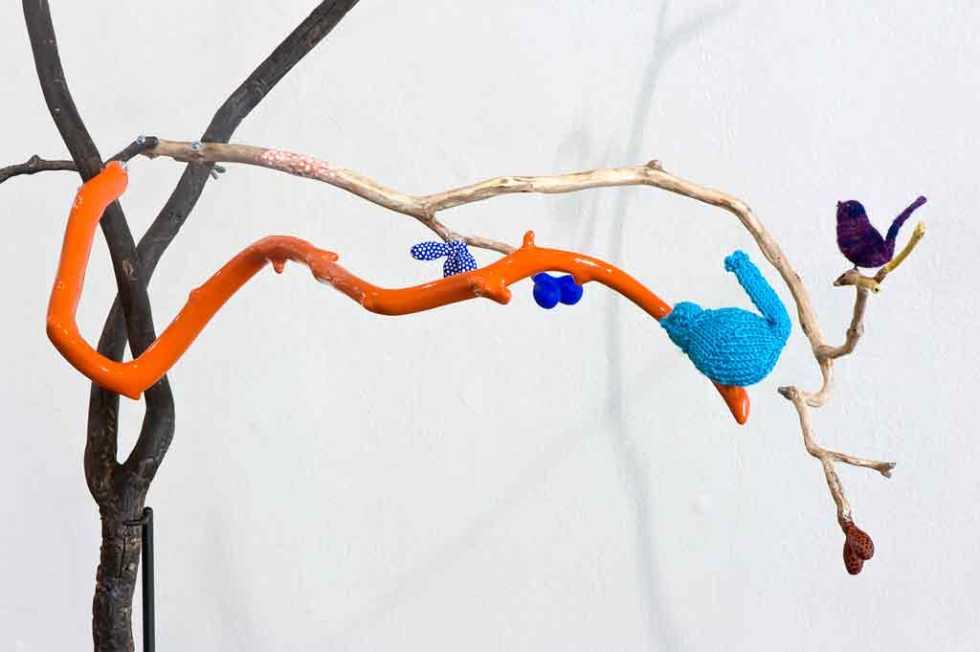 G.M Gumtree (detail), 1400 x 1100 x 800mm, Mixed media, 2013