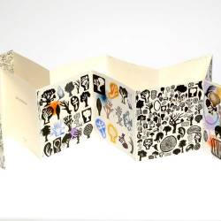 My Landscape - Artist Book, 280 X 260 Mm, Lino Print, Watercolour And Collage On Magnani Paper, 2010