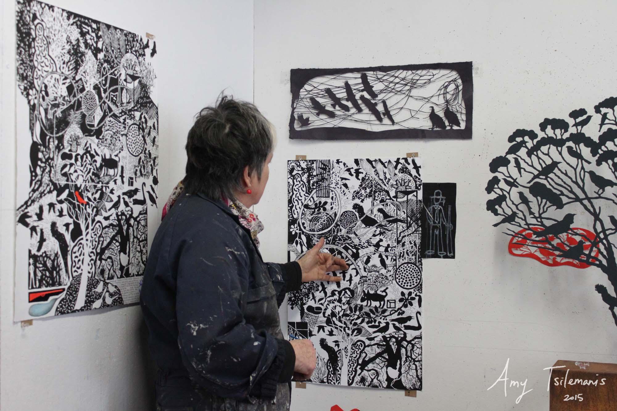 Judy Holding In Her Studio