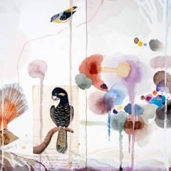 Bird Landscape (detail), Watercolour, 500 X 1530mm, 2016
