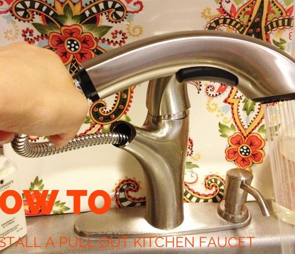 HOW TO Install A Pull Out Kitchen Faucet