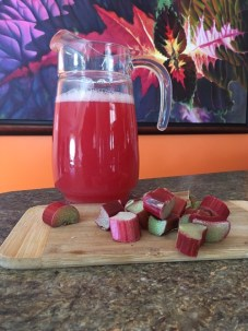 Home made rhubarb punch!