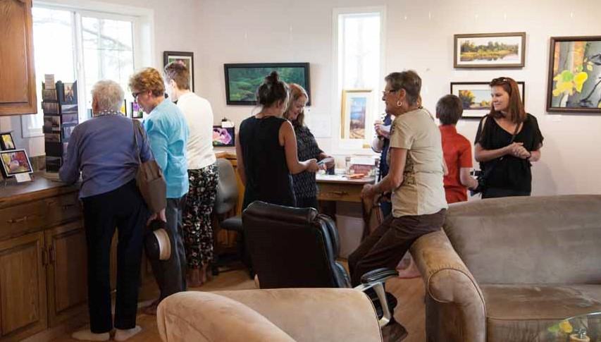 It was crazy busy in the studio at times. People were encouraged to help themselves to the goodies, enjoy the art and wander the gardens.