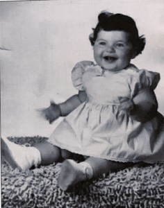 Baby Donna, probably a year old. Mom said she was too fat to walk yet.
