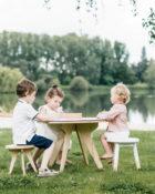 table de jeux en bois drawin table