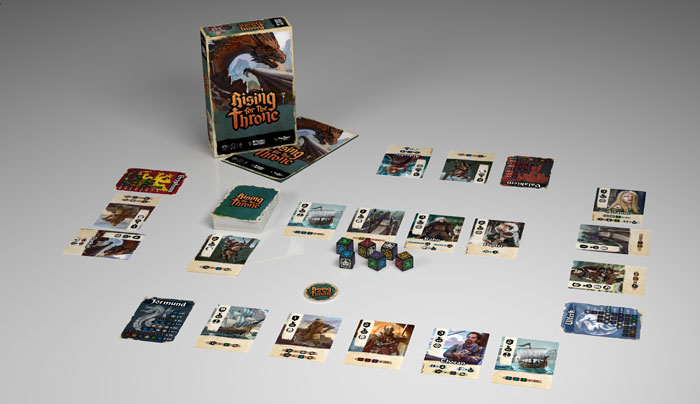 RIsing for the throne despliegue juego de mesa kickstarter