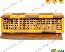 Domino 9x9 caja de madera mediano