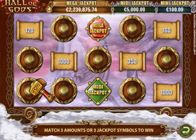 Juego de tragamonedas con jackpot Hall of Gods