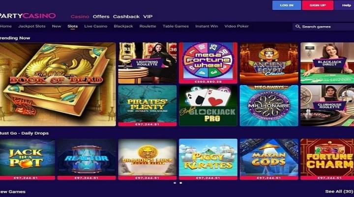 Juegos de azar en Party Casino en Chile