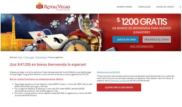Royal Vegas casino promo-jugadores-nuevos