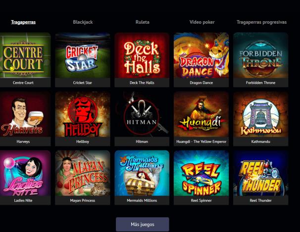 Spin palace casino- juegos