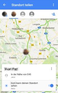 Standort mit GoogleMaps teilen