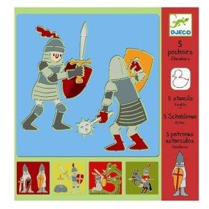 Djeco-sjablonen-ridder