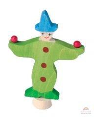 Grimms-steker-clown-groen