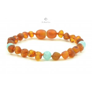 barnsteen s14-amber-and-aquamarine-mix-baby-bracelets-anklets