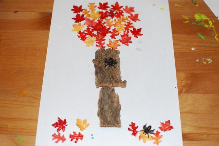 Knutsel herfst boom