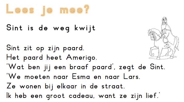 Begrijpend Lezen Sinterklaas Juf Maike Leerkracht