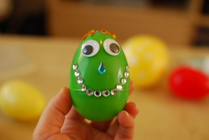 Gezicht op het ei