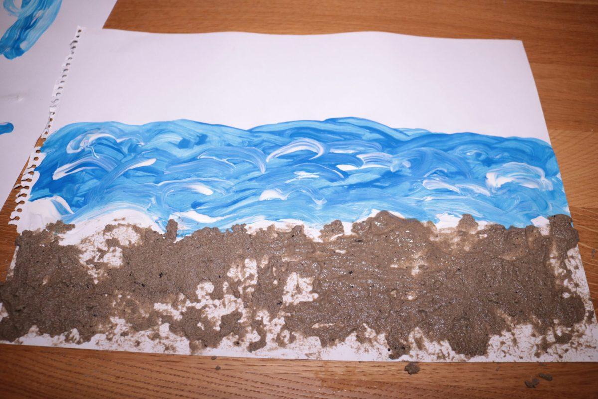 Zand knutsel De kleine walvis