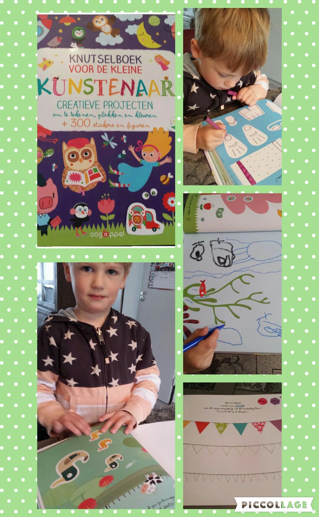 Collage De kleine kunstenaar