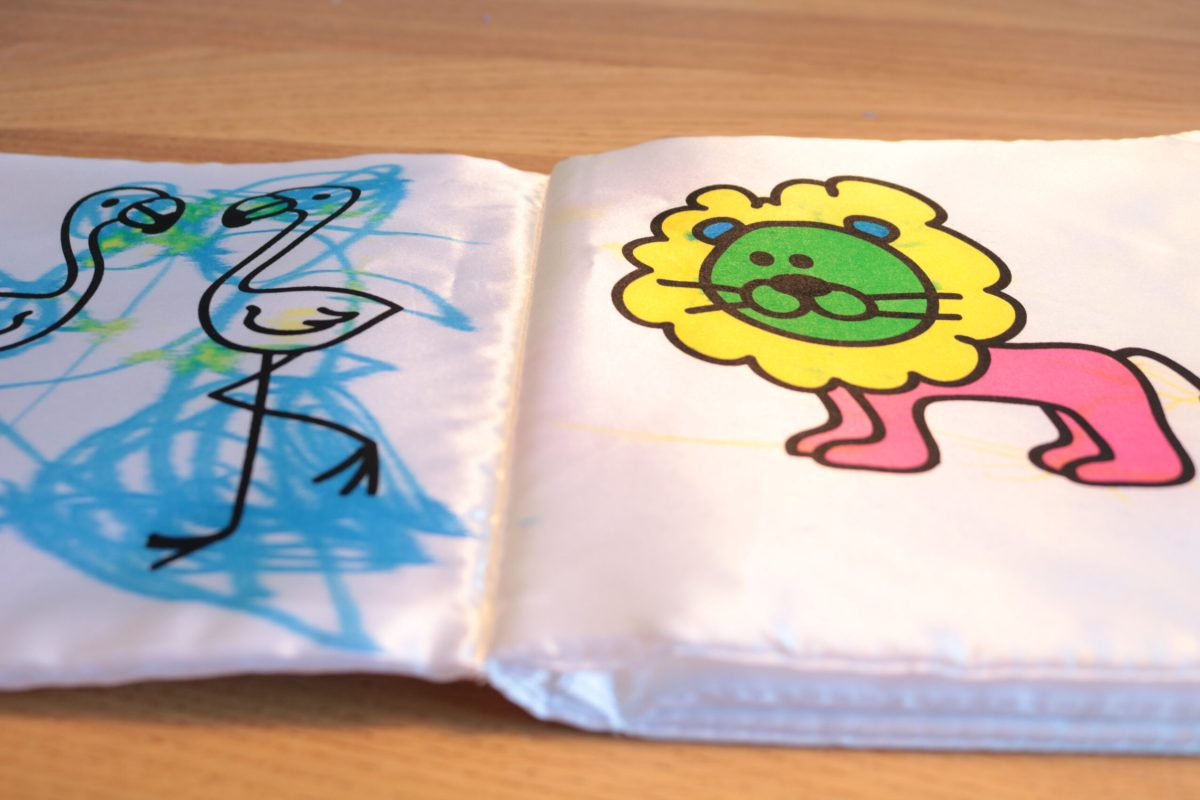 Boekje ingekleurd