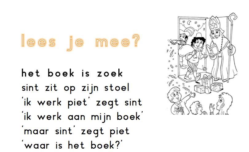 Begrijpend lezen Sinterklaas Het boek is zoek