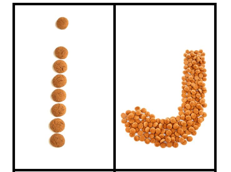 Letters van pepernoten