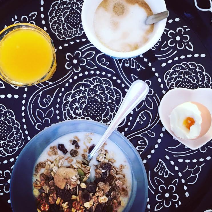 In alle rust ontbijten