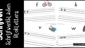 Wonderbaarlijk Schrijven | Schrijfwerkbladen verbonden schrift - Juf Shanna MK-14