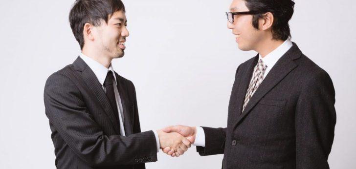 握手 パートナー