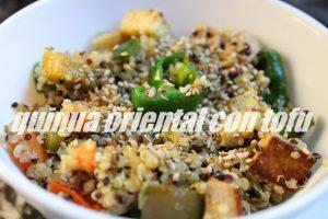 Quinua Oriental Con Tofu