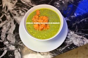 Crema De Verduras Con Crutones De Zanahoria