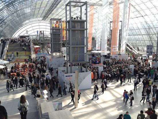 Haupthalle der Buchmesse in Leipzig