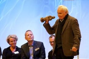 Norman Junge (rechts), Preisträger für das Gesamtwerk Illustration // Foto: Ulf Cronenberg, Würzburg