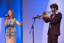 Das Duo Matria sorgte für die musikalische Unterhaltung || © Foto: Ulf Cronenberg