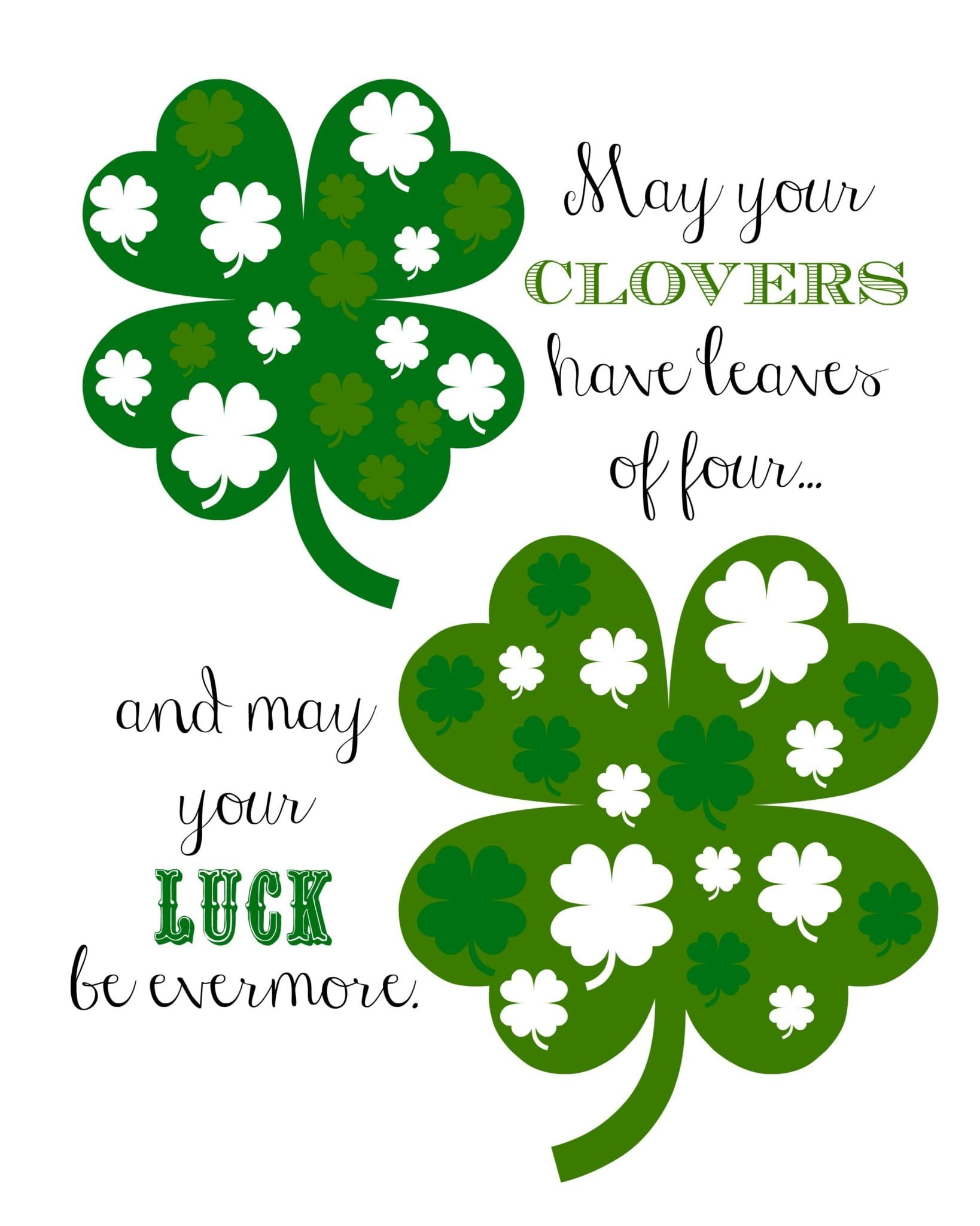 St Patrick S Day Printable Poem