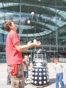 Image result for daleks juggling