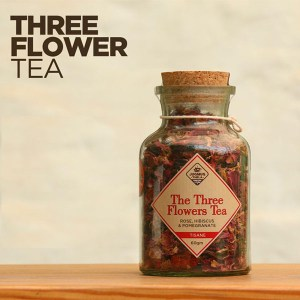 Three-Flower-Tea-Rose--Hibiscus--Pomegranate-Flowers-Tisane