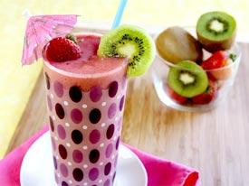 jugo de kiwi y fresa