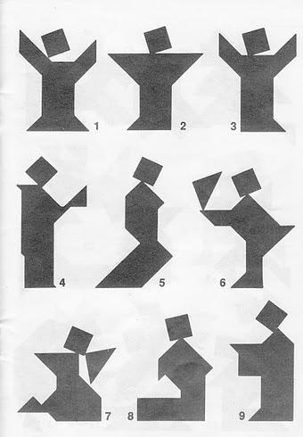 Figuras Tangram con soluciones 1
