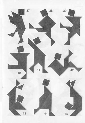 Figuras del Tangram con sus soluciones