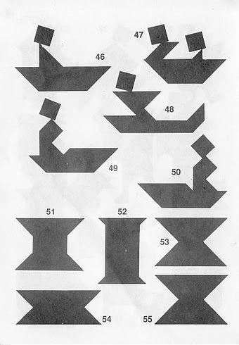 Piezas del Tangram con soluciones
