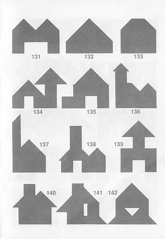 Figuras construcciones Tangran con soluciones