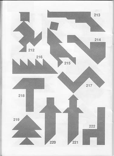 Figuras para el Tangran con soluciones