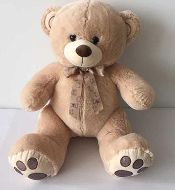 oso beig huellas 80 cms