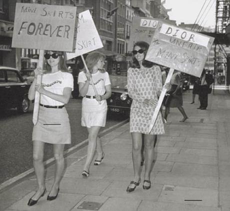 Miniskirt as an expression of feminism