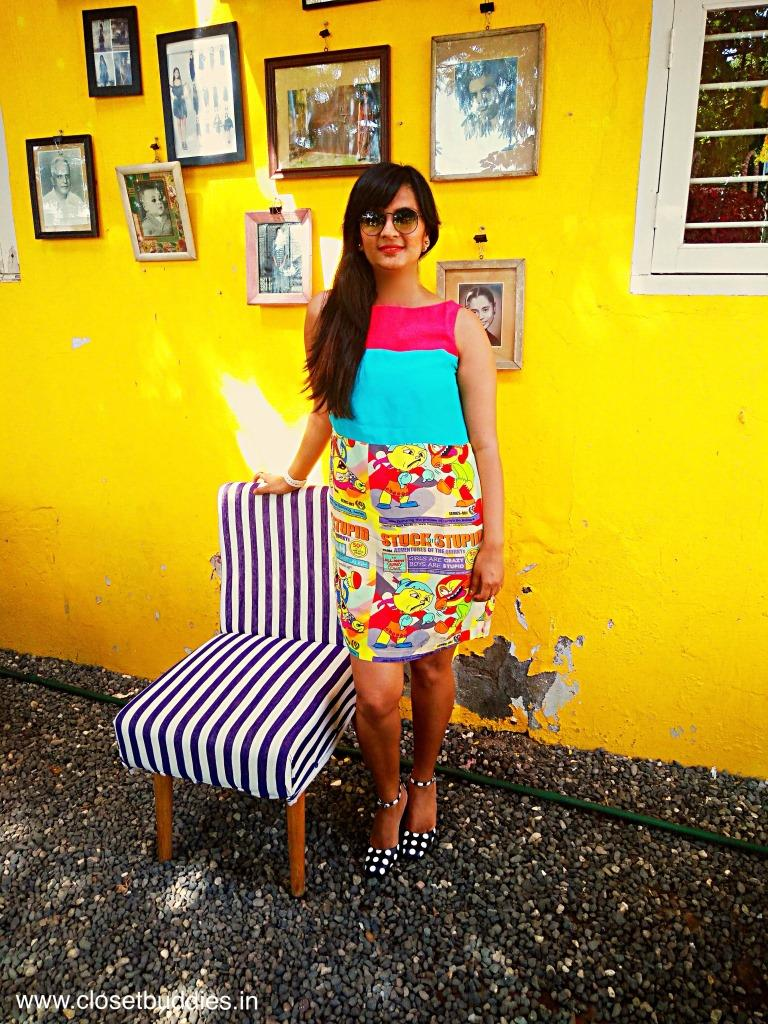 I love the wall! (and the chair by Anuj Sharma of Button Masala!)