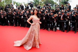 """Bollywood actress Aishwarya Rai poses on the red carpet as she arrives for the screening of the film """"The BFG"""" (Le Bon Gros Geant) out of competition at the 69th Cannes Film Festival in Cannes, France, May 14, 2016.           REUTERS/Yves Herman"""