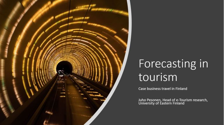Forecasting in tourism and hospitality