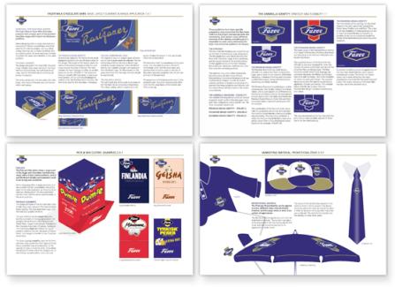 Fazer Confectionery Brand Guidelines Design Bath
